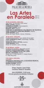 Flyer Las Artes En Paralelo 2015-2016